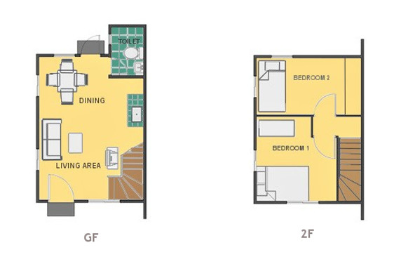 Mikaela Floor Plan House and Lot in General Trias