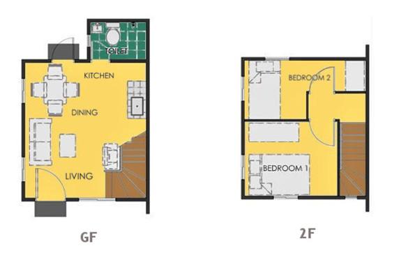 Ravena Floor Plan House and Lot in General Trias