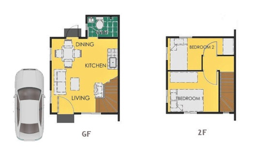 Reva Floor Plan House and Lot in General Trias