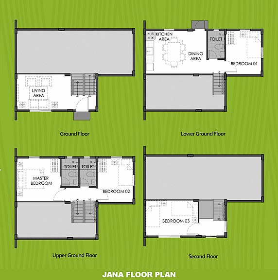 Janna Floor Plan House and Lot in General Trias