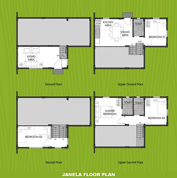 Janela Floor Plan House and Lot in General Trias