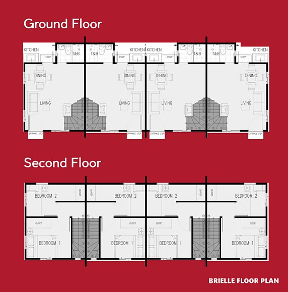 Brielle Floor Plan House and Lot in General Trias