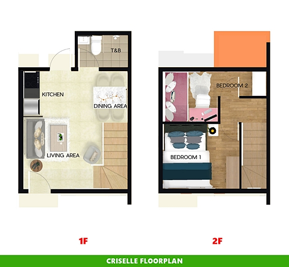 Criselle Floor Plan House and Lot in General Trias