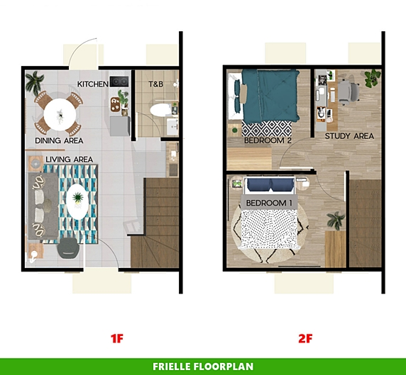 Frielle Floor Plan House and Lot in General Trias